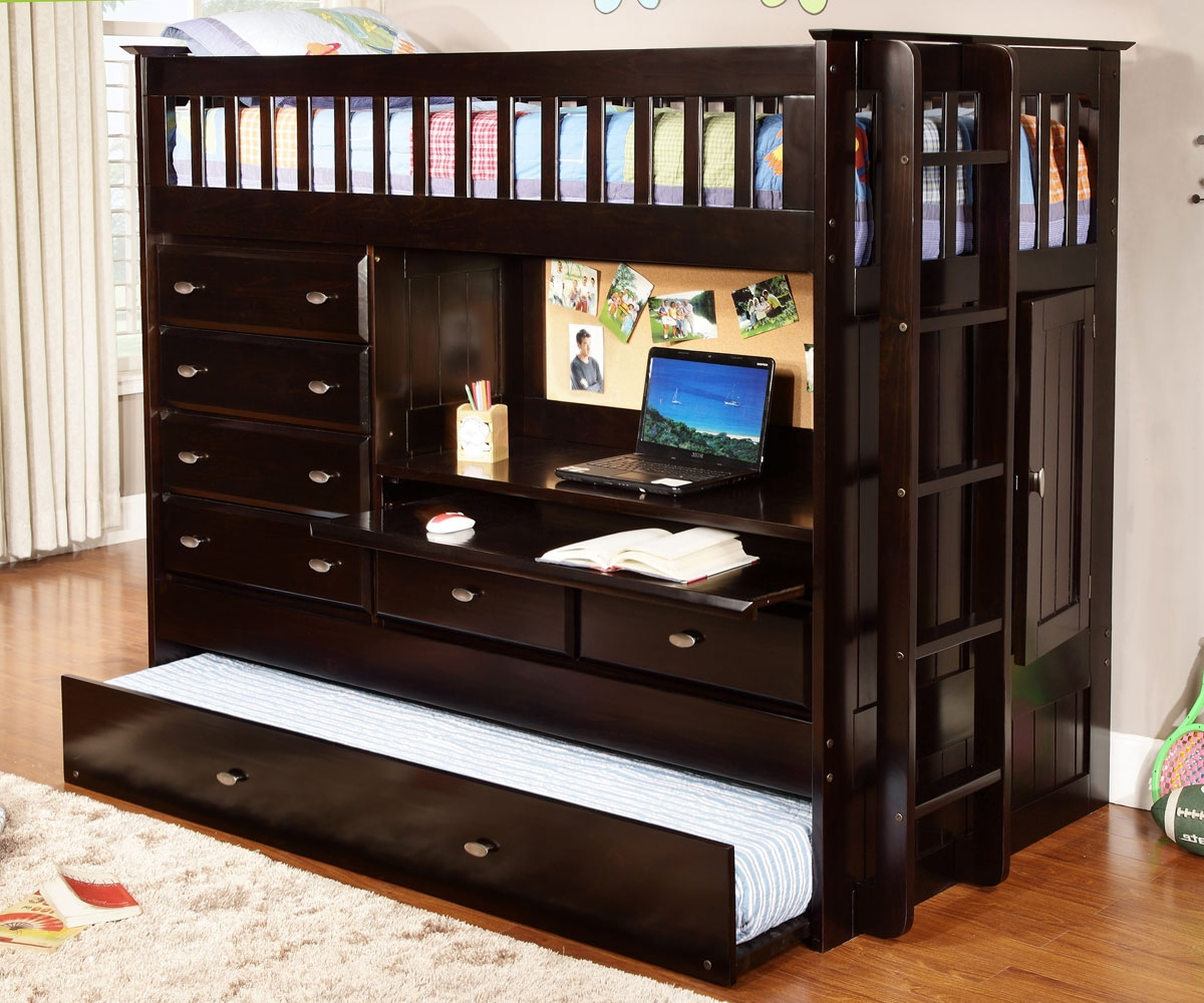 Espresso All In One Loft Bed Price Drop Alert Dream Rooms