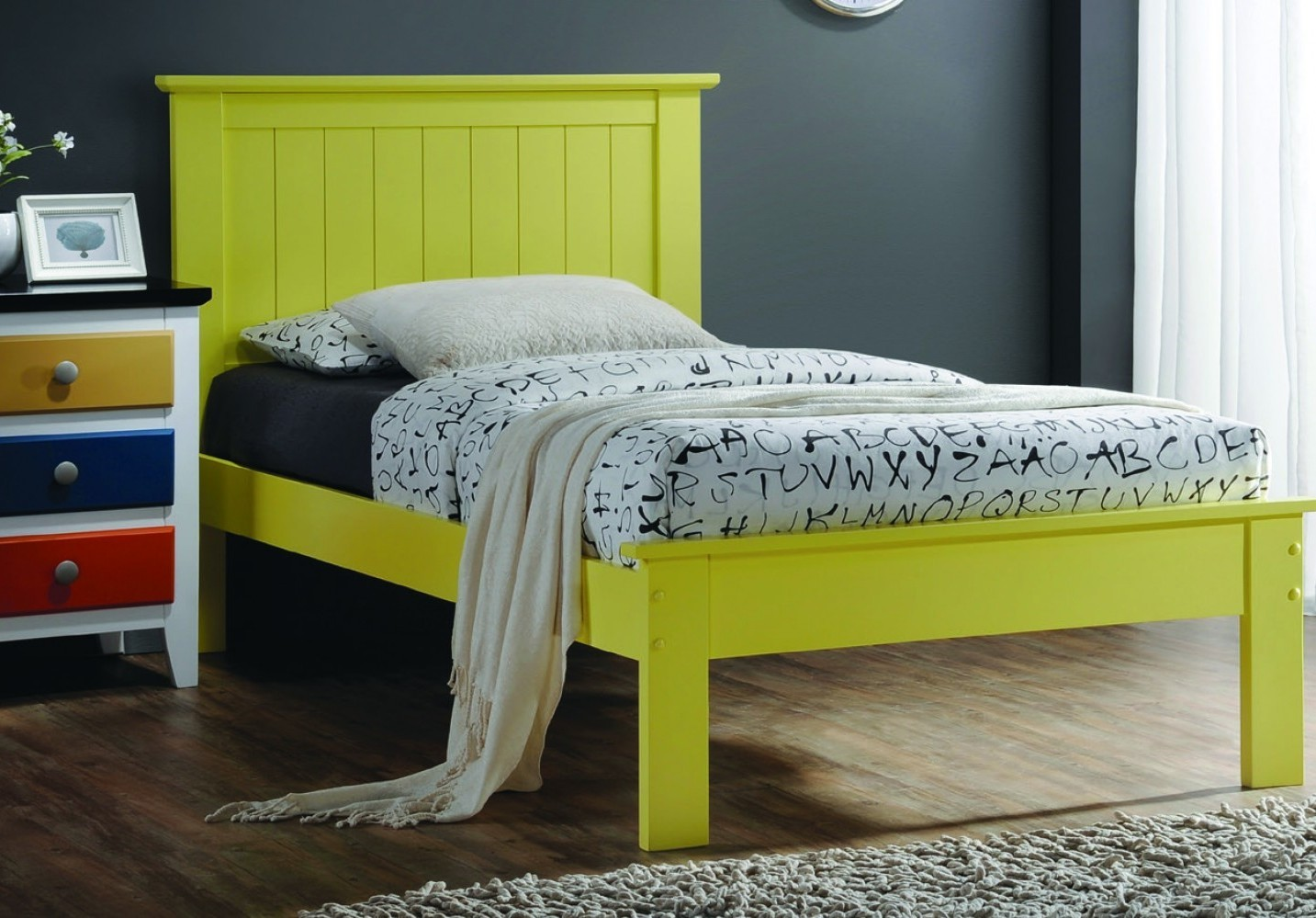 Solid Wood Yellow Twin Platform Bed Price Drop Alert Dream Rooms Furniture